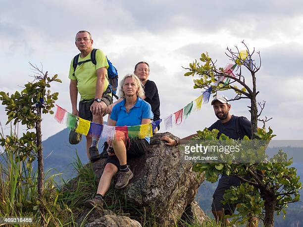 Relaxing on the top  of  Little Adam's Peak in Ella