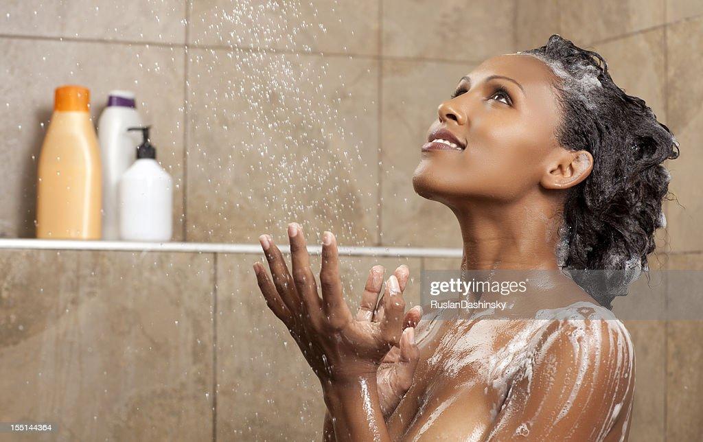 Relaxing shower : Stock Photo