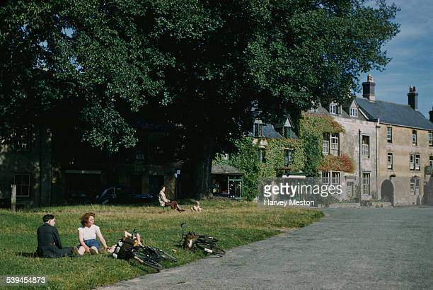 A relaxing summer's day in StowontheWold Gloucestershire England circa 1960