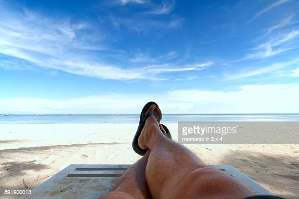 Relaxing time at the beach