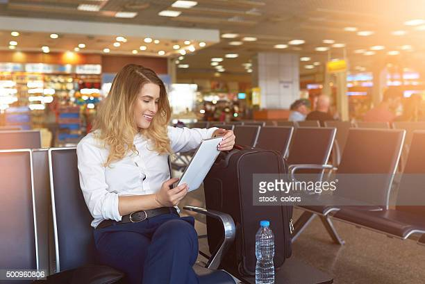 relaxing time in the airport