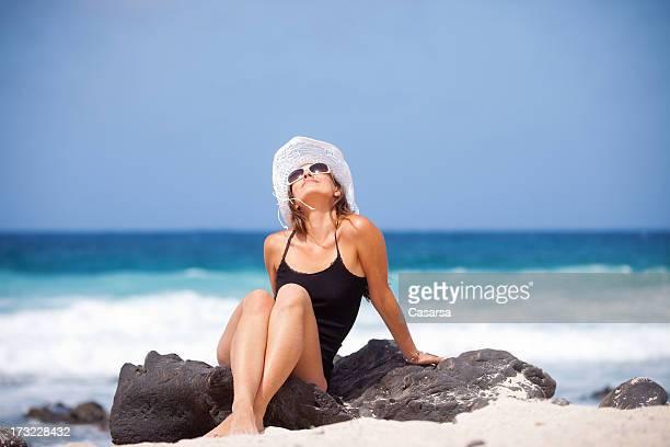 Relaxing under the sun
