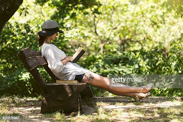 Relaxing with book