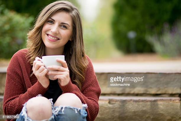 Relaxing With My Coffee