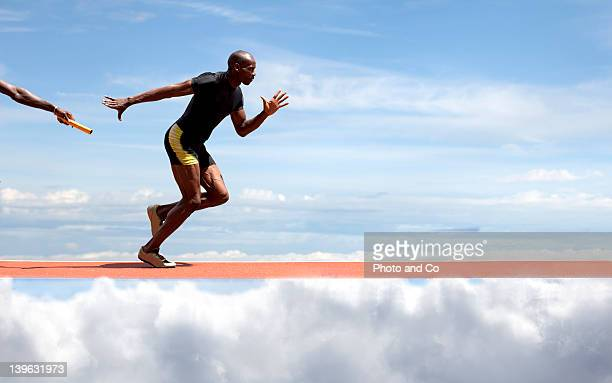 relay race - relay stock pictures, royalty-free photos & images