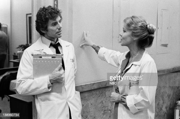 """Release"""" Episode 12 -- Pictured: David Birney as Dr. Ben Samuels, Dorothy Fielding as Doctor Nancy Paxton"""