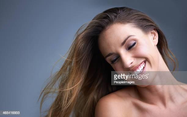 Ihr Haar wird von stress