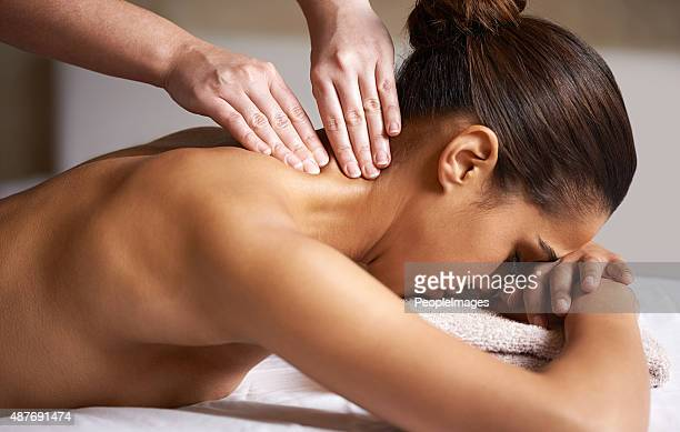 releasing all the tension - massage stock photos and pictures