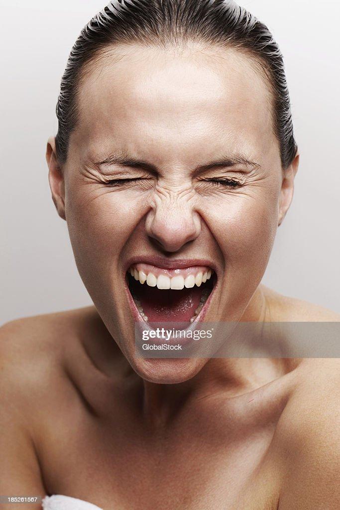 Releasing negative energy : Stock Photo