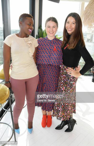 Relebohile Leoatha Roisin McGovern and Zoe Elliott attend the mothers2mothers Wonder Women Tea at Bourne Hollingsworth's Garden Room on March 4 2019...