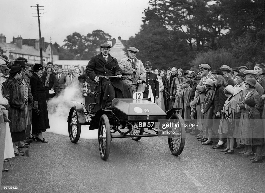Reliability Trial for Veteran Cars. The picture shows a car, which ...