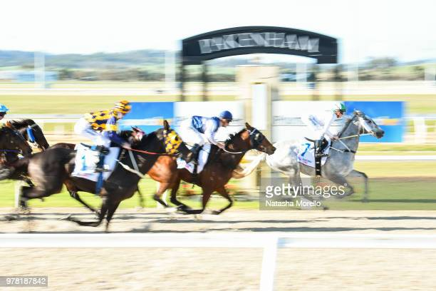Riverina Romance after winning the Sportsbet Racing Form BM58 Handicap at Racingcom Park Synthetic Racecourse on June 19 2018 in Pakenham Australia