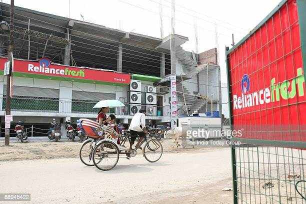 Reliance Fresh store in Lucknow UP India