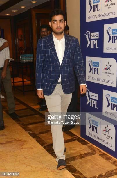 Reliance Jio board member Akash Ambani during IPL 2018 Player Retention announcement in Mumbai