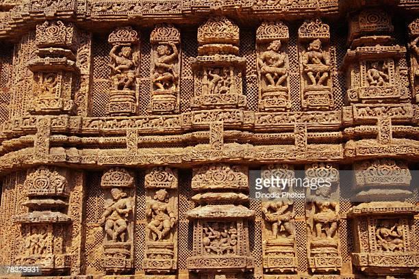 Relief carvings, Konark Sun Temple, Orissa, India