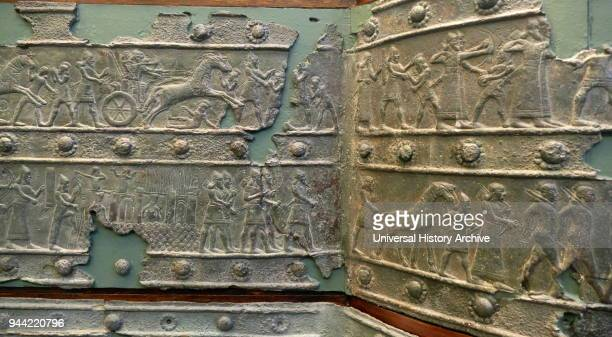 Relief cast in a Bronze band from the Balawat Gates Balawat dating to the reigns of Ashurnasirpal II and Shalmaneser III Their extensive use of...