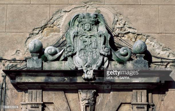 Relief decoration architectural detail from Bojnice Castle Trencin Slovakia