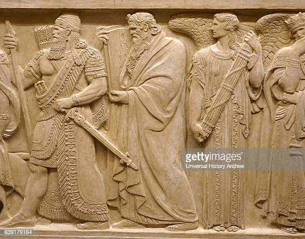 Relief depicting Babylonian Ruler Hammurabi next to Hebrew prophet Moses On the Right of Moses is seen the figure of Austerity US Supreme Court...