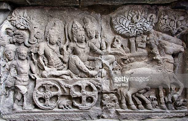 A Relief Depicting Daily Life on  Prambanan Temple
