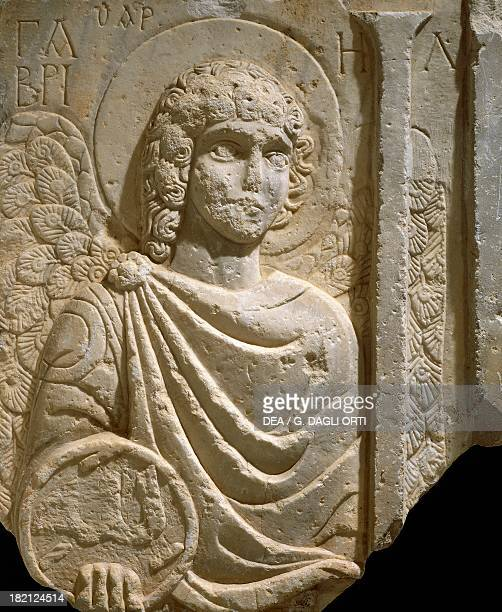 Relief depicting the Archangel Gabriel. Early Christian period, 6th century.