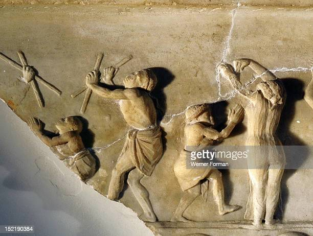 A relief found at Ariccia south of Rome which illustrates the celebration of religious rites in Egypt The cult was probably connected with Isis...