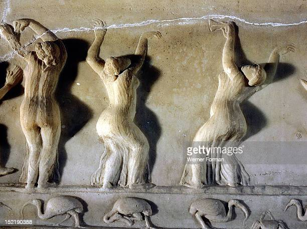 A relief found at Ariccia south of Rome which illustrates the celebration of religious rites in Egypt identified by the ibises The cult was probably...