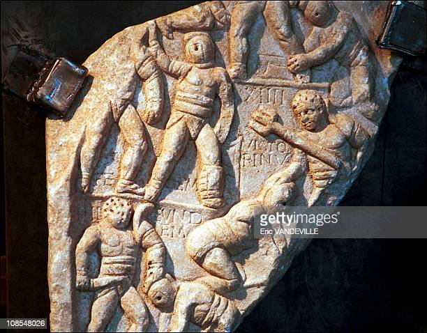Relief from a funerary monument in Rome Italy on June 21st 2001