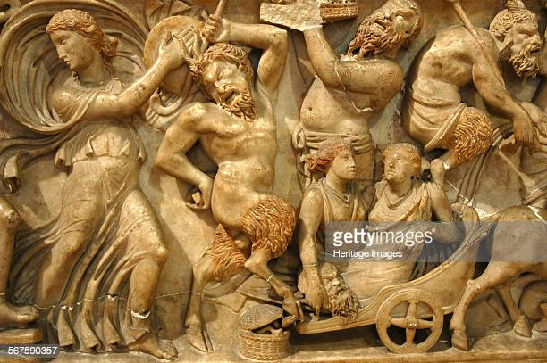 Relief from a sarcophagus depicting a Bacchic procession Culture Roman Credit Line Werner Forman Archive NJ Saunders/ Capitoline Museum Rome