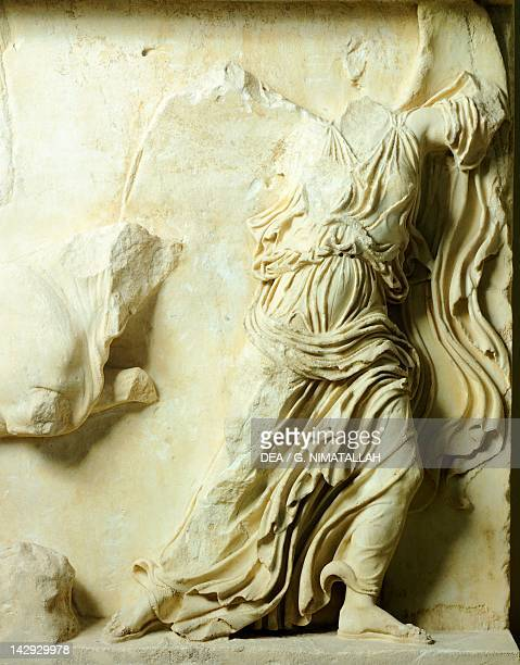 Relief from the balustrade from the Temple of Athena Nike The Acropolis of Athens Greece Greek civilization 5th Century BC Athens Moussío