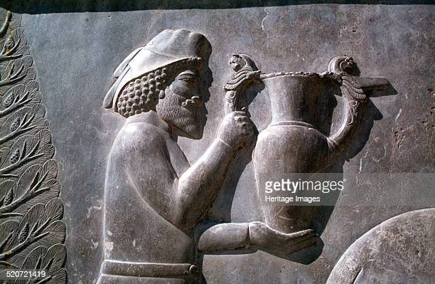 Relief of an Armenian man carrying a vessel, the Apadana, Persepolis, Iran. The capital of Achaemenid Persia, Persepolis was predominantly built...