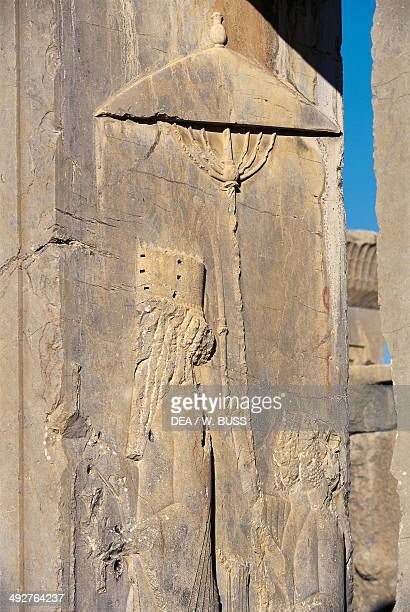 Relief of the jamb of a portal, Palace of Darius , Persepolis , Iran. Achaemenid civilisation, 6th-5th century BC. Detail.
