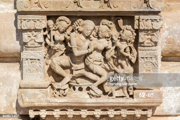relief on harshat mata temple, abhaneri, rajasthan, india - abhaneri stock photos and pictures