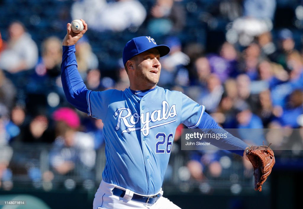 6ddf88c2e80 Relief pitcher Brad Boxberger of the Kansas City Royals throws in ...