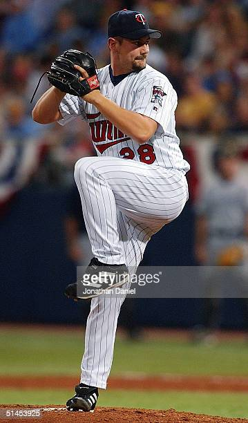 Relief pitcher Jesse Crain of the Minnesota Twins pitches against the New York Yankees during game three of the American League Divisional Series on...
