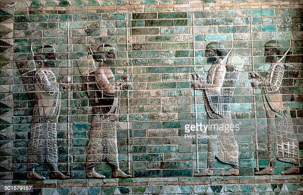 Relief showing archers of the Persian Royal Guard Palace of Darius I Susa c500 BC Now part of the collection at The Louvre