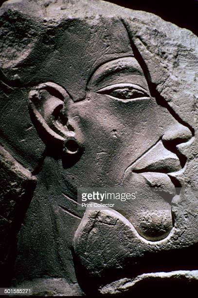 Relief showing the head of Akhenaten