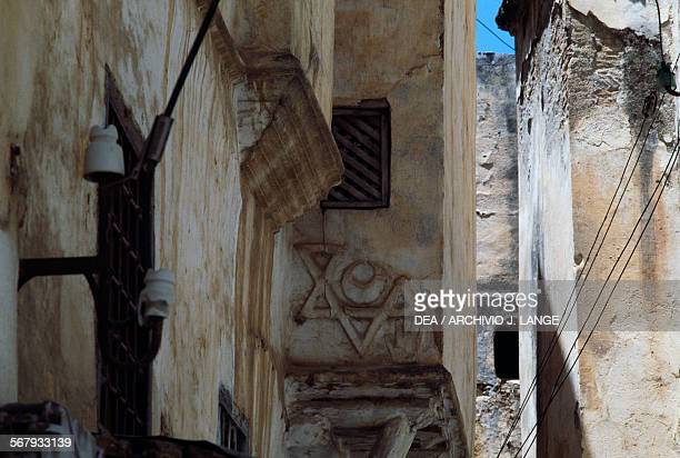 Relief with Star of David on a building in the Kasbah of Algiers Algeria