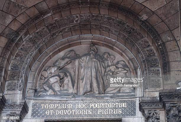 Reliefs above the doors of Sacre Coeur, Montmartre