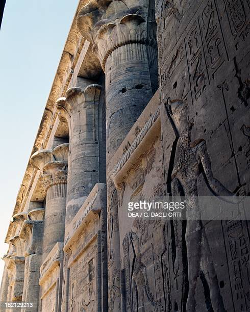 Reliefs and capitals from Trajan's Kiosk Philae Temple Complex island Agilika originally located on the island of Philae Egyptian Civilisation Roman...