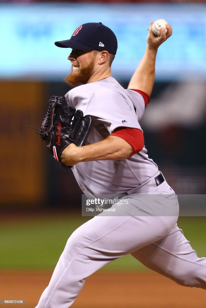 Reliever Craig Kimbrel #46 of the Boston Red Sox pitches against the St. Louis Cardinals in the ninth inning at Busch Stadium on May 16, 2017 in St. Louis, Missouri.