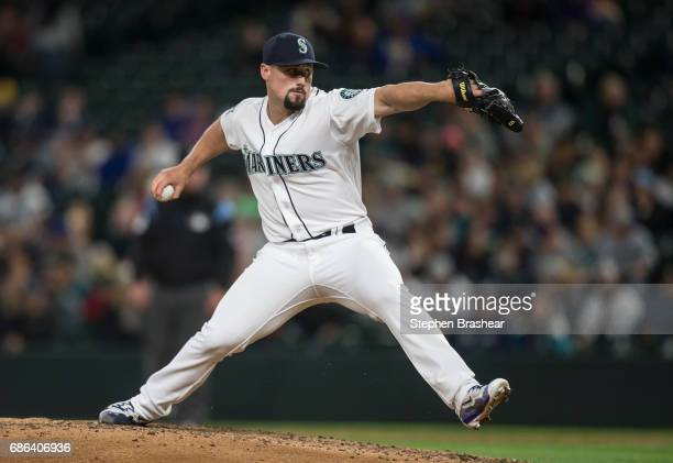 Reliever Dan Altavilla of the Seattle Mariners delivers a pitch during a game against the Chicago White Sox at Safeco Field on May 18 2017 in Seattle...