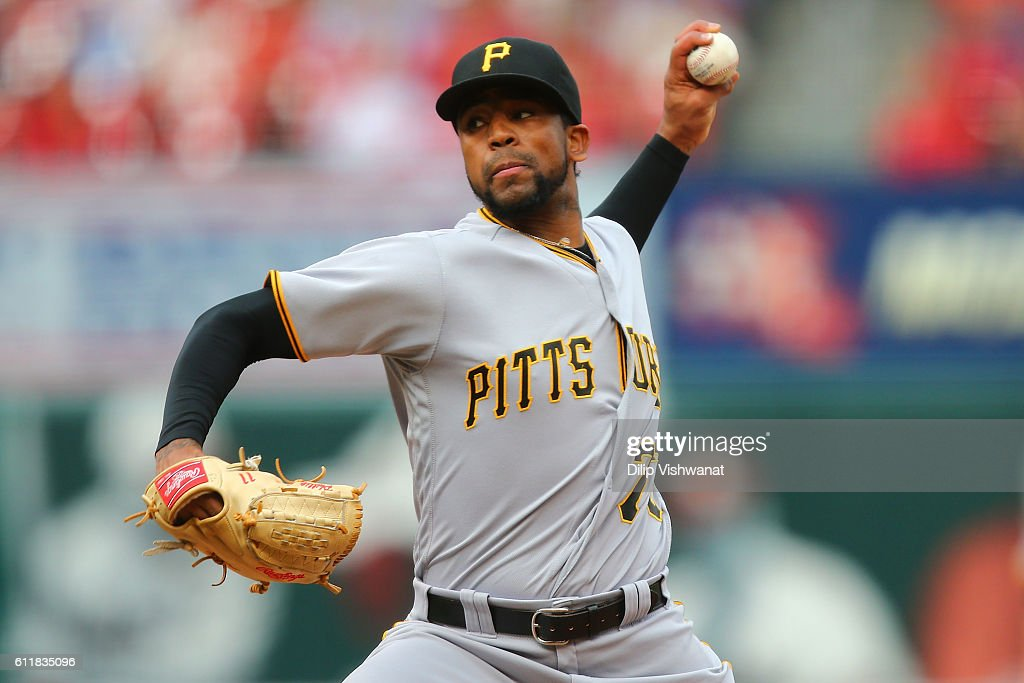 Reliever Felipe Rivero #73 of the Pittsburgh Pirates pitches against the St. Louis Cardinals in the eighth inning at Busch Stadium on October 1, 2016 in St. Louis, Missouri.
