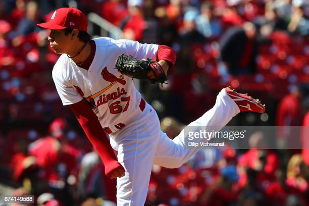 27e4ac70cb2b Reliever Matt Bowman of the St Louis Cardinals pitches against the Toronto  Blue Jays in the