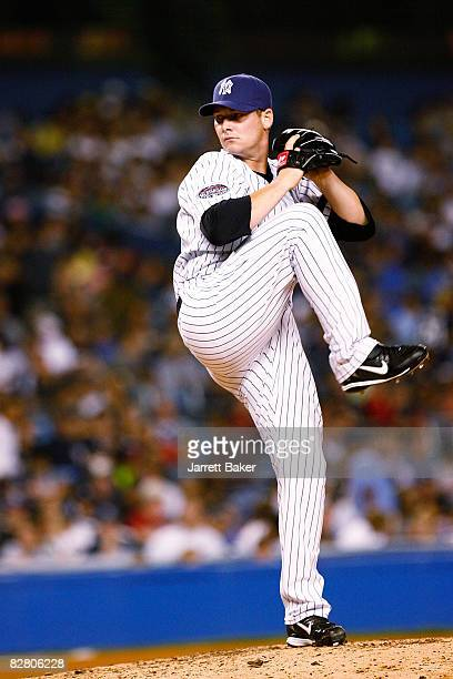 Reliever Phil Coke of the New York Yankees pitches against the Tampa Bay Rays in the fourth inning on September 13 2008 at Yankee Stadium in the...