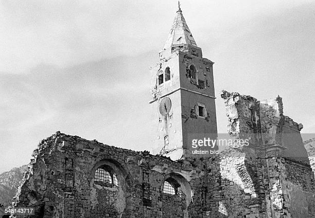 religion Christianity church ruin Croatia at that time Jugoslavia Yugoslavia