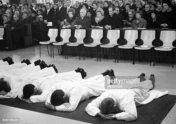 religion Christianity consecration of fifteen diacons in 1974 in the Church of Our Lady Bottrop by auxiliary bishop Julius Angerhausen DBottrop Ruhr...