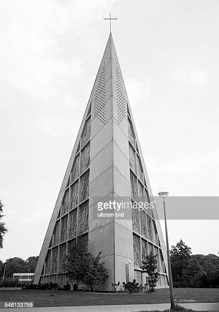 religion Christianity evangelic Saint Stephanus Church modern architecture built in 1970 architect Peter Grund DGelsenkirchen DGelsenkirchenBuer Ruhr...