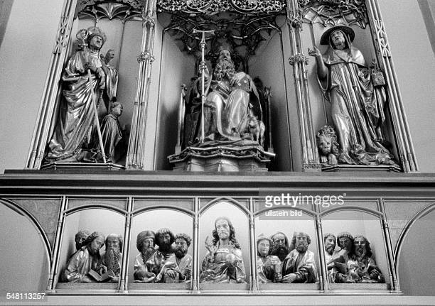 Religion, Christianity, third view of the Isenheim Altarpiece by Matthias Gruenewald in the Unterlinden Museum, France, Alsace, Colmar -
