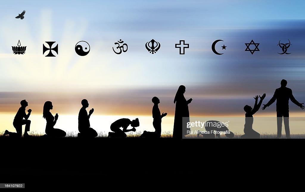 Religion confusion : Stock-Foto
