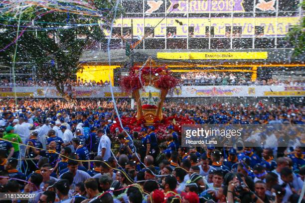 religion - nazareth candle procession in belém, brazil - sacrifice play stock pictures, royalty-free photos & images